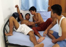 Two Gays Seduce Str8 Asian Boy