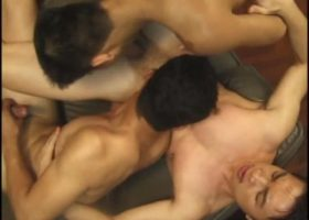 Asian Gay Threesome